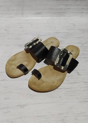 🛍️ кожаные maluo original  шлёпанцы шлёпки сандалии босоножки