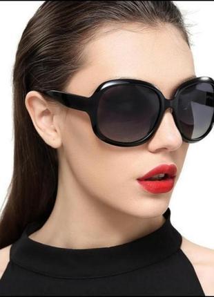 Очки солнцезащитные, очки от солнца черные,круглая оправа