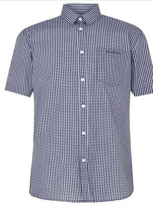 Рубашка с коротким рукавом pierre cardin 100% оригинал с лондона