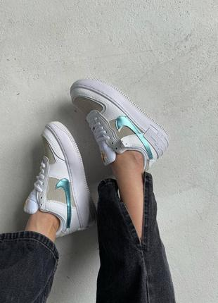 Nike air force shadow white / sparkle blue