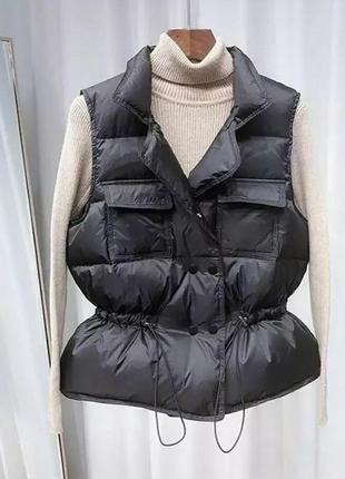 Жилетка плащевка стильная модная