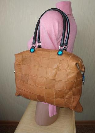 Кожаная сумка трансформер шоппер шопер хобо италия tote bag