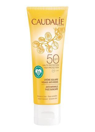 Солнцезащитный крем для лица caudalie anti-wrinkle face suncare spf50 50ml