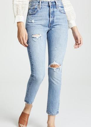 Жіночі levi's джинсы 501 скинни ливайс женские