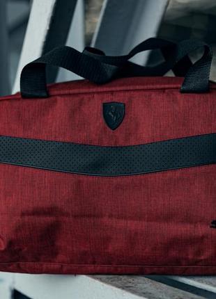 Спортивная дорожная сумка из качественного плотного☝️материала с чёрным вышитым лого