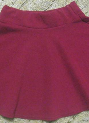 Юбка солнце школьная форма марсала бордо для девочки можно в школу