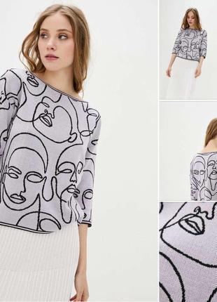 Джемпер свитер с принтом женский