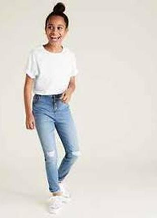 Denim co джинсы скинни с потёртостями в силе гранж.  5-6 лет