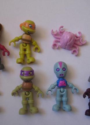 Коллекция героев черепашек ниндзя из киндерсюрпризов в идеале