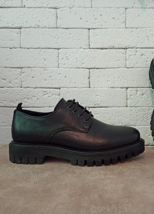 Tommy hilfiger мужские кожаные туфли дерби