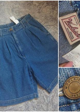 Винтажные джинсовые шорты# кюлоты. woolrich.