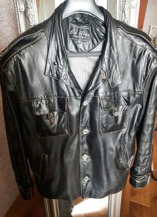 Шкіряна куртка чоловіча