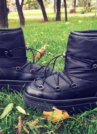 Угги/унты/черные угги/мун-буты/ugg/черные ботинки