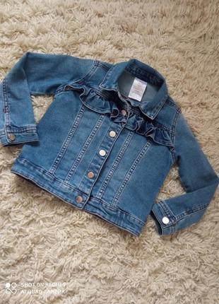 Крутая джинсовая  курточка для девочки