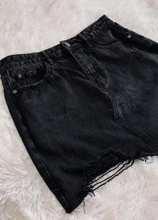 Стильная джинсовая юбка missguided