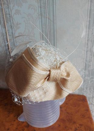 Винтажная ретро шляпка,шляпа england