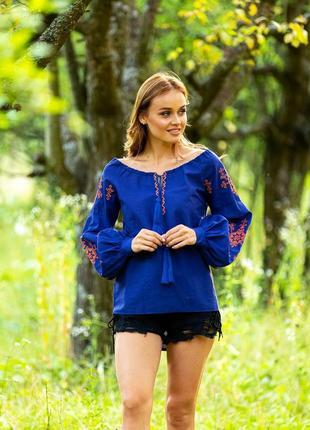 Жіноча вишиванка вишита блуза розмір l