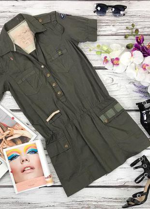 Повседневное платье-рубашка в стиле милитари  dr4080