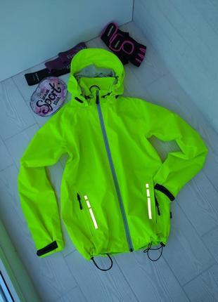 Rukka яркая спортивная легкая неоновая куртка дождевик ветровка для походов бега вело