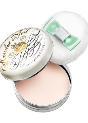 Лечебная компактная пудра против акне 24 часа amulet veil shiseido япония