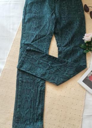 Байкерские джинсы скинни python