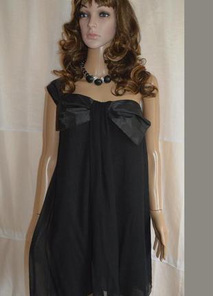 Платье короткое шелковое веечернее next