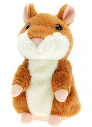 Детская интерактивная мягкая игрушка говорящий хомяк-повторушка, легендарный  хомяк