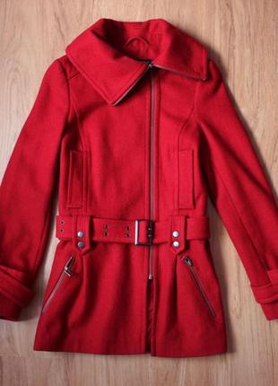 Шерстяное красное пальто seppala xs
