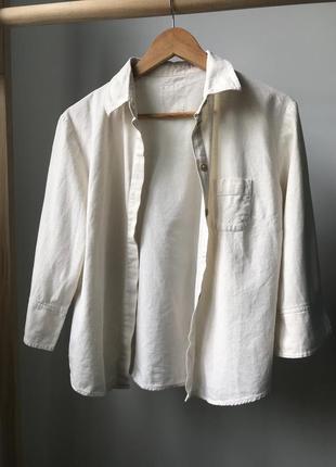 Шёлковая рубашка the earth collection с коротким рукавом