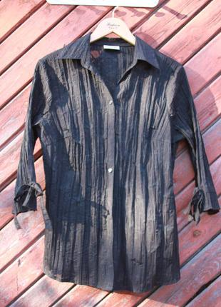 C&a видовжена блуза ажурний принт xl