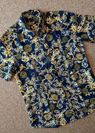 Рубашка с принтом в стиле versace