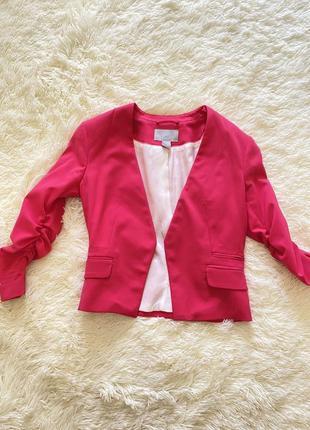 Піджак колір фуксія малиновий р.хс(34)/ пиджак