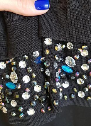 Черное платье с камнями swarovski, sandro paris, massimo dutti