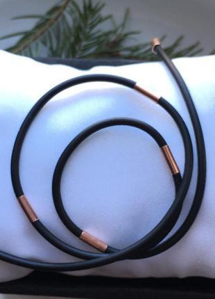 Жгутик шнурок позолота каучук 4014