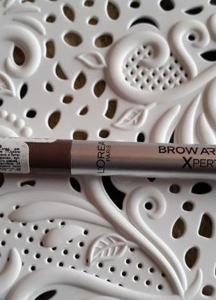 Карандаш для бровей brown artist xpert loreal