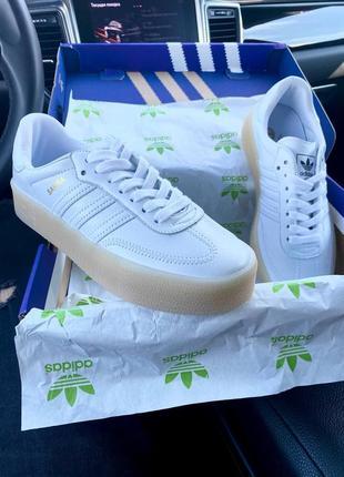 Кеды adidas samba white\milk