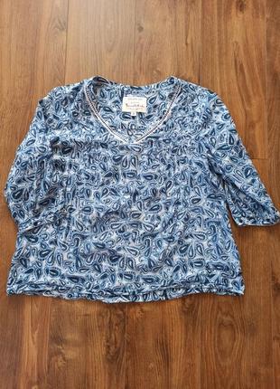 Лёгкая хлопковая блузка в огурцы