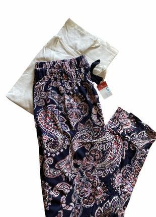 Пижама хлопковая натуральная 🦚🦚🦚 футболка брюки штаны primark