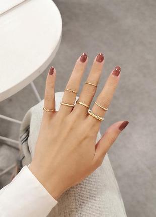 Акция! модные наборы колец на пальцы и фаланги от сорока. ми 7шт цена за все сразу!