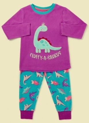 Милашная флисовая пижамка для девочек от dunnes stores на 12-18,18-24,2-3,3-4 года