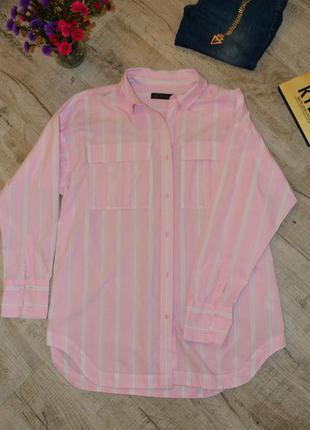 Рубашка в полоску marks & spencer