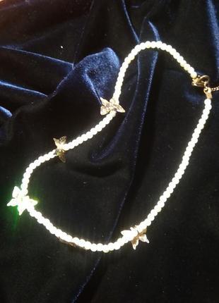 Ожерелье, колье, бусы с бабочками