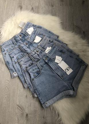 Шорты джинсовые mom fit высокая талия посадка