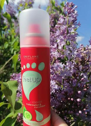 Охлаждающий спрей-дезодорант для ног с арбузом и огурцом feet up 39524