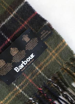Мужской шерстяной шарф в клетку barbour оригинал2 фото
