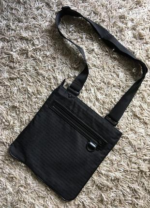 Мужская черная сумка сумочка мессенджер armani exchange оригинал