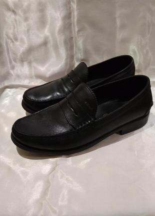 Лоферы geox respira кожаные туфли