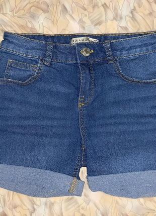 Стрейчевые джинсовые шорты denim co р.s