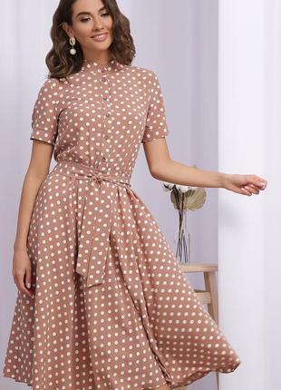 Повседневное платье в горох (3 цвета)