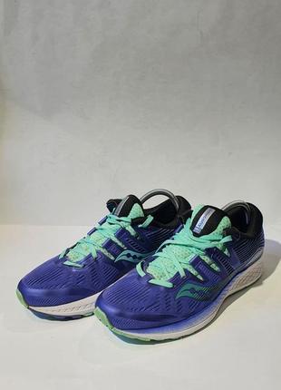 Кроссовки кросівки большой размер saucony ride iso blue purple (s10444-35)